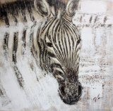 Zebra on Oil Painting for Home Decoration