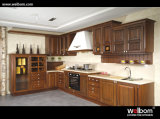 2015 Welbom Classic Solid Wood Brown Kitchen Cabinet