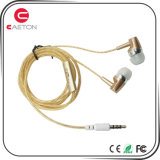 Plastic Stereo Transparent Wire Earphone with Microphone