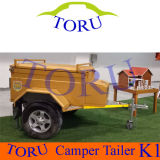 New Arrival Clear Green Hard Floor Camper Trailer/Travel Trailer