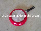 20-30cm Red Aluminum Frying Pan Kitchenware