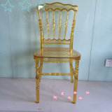 Transparent Gold Resin Napoleon Chair for Rental