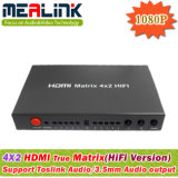 4X2 HDMI Matrix Switcher with Audio Output (YL0402HIFI)