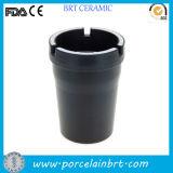 Hot Black Ceramic Car Ashtray for Cigarette