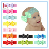 Wholesale 11 Colors Children Bowknot Lace Headbands