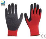 Latex Palm Coated Work Gloves, Crinkle Finish