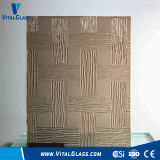 3-6mm Bronze Woven/Aqualite Patterned/Figured Building Glass with Ce&ISO9001