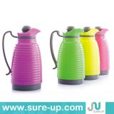 Plastic Water Vacuum Thermos Pot with Glass Inner 1.0L