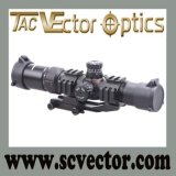 Vector Optics Tactical Mustang 1.5-4X30 Hunting Scope Chevron Reticle W/ One Piece Mount
