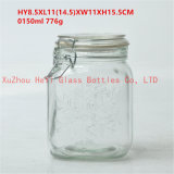 1L Food Glass Jar Seal Glass Container with Glass Lid