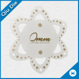Die Cut Cardboard Paper Clothes Labels for Apparel with Flower Shape