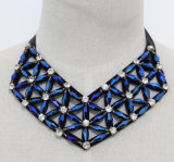 Lady Geometric Crystal Costume Jewelry Choker Fashion Necklace (JE0169)