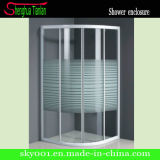 Aluminum Frameless Tempered Fiberglass Bathroom Glass Shower Screen (TL-512)