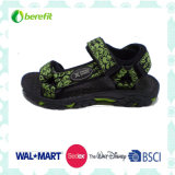 Green Webbing and PU Upper, Men′s Sporty Sandals