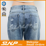 Street Fashion Strench Stratch &Ripped Ninth Jean Pants