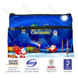 Wholesale Beauty Cosmetic for Coming Xmas Christmas Zipper Pencil Case,