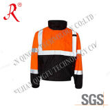 Men′s High Vis Safety Jacket with Reflective Tape (QF-525)