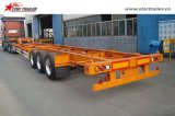 40FT Gooseneck Skeleton Container Chassis for Sale