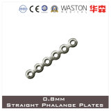 0.8mm Titanium Mini Straight Phalange Plate