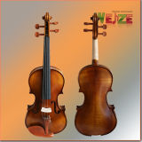 Half Matte Violin with Artificial Flame