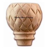Wood Carved Basket Weave Round Foot CBF-08