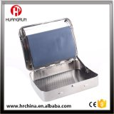Metal Cigarette Rolling Box Tobacco Rolling Box Roller Case Arch Back Iron Siver 70mm