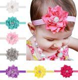 Baby Girls Elastic Headband Chiffon Flower Photography Headbands, Boutique Floral Headband