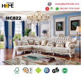 European Style Wood Furniture Square Dining Table with Marble (HC64)
