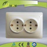TUV certified EU standard double schuko socket