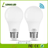 9W E26 Motion Sensor Light Bulb Daylight White (5000K) Radar Sensor LED Bulb