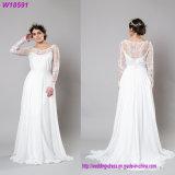 2017 White Lace Appliqued Mermaid Trailing Bridal Gown Wedding Dress