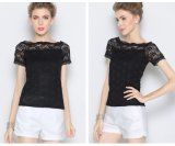 Wholesale Cheap Chiffon Blouse for Woman with Lace