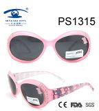 Most Popular Cartoon Pink Colorful Kid Plastic Sunglasses (PS1315)