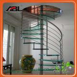Stainless Steel Indoor Spiral Staircase Handrail Design Dd005