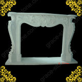Hunan White Marble Fireplace Mantel with French Style