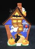 Ceramic Hand-Painted Halloween Cookie Jar