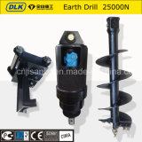 Excavator Hydraulic Soil Auger Ground Driller for Hole Digger