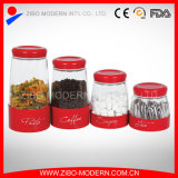 Hot Sale Stainless Steel Coating Glass Food Jar for Spices/Sugar/Coffee/Tea