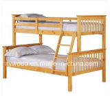 Bunk Bed Triple Sleeper Solid Wood Splits Into 2 Beds
