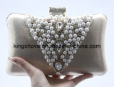 2014 Hot Satin with Beaded Fashion Evening Bag / Fashion Bag (KCE02)