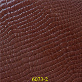 Wholesale Bulk Imitated PU Handbag Leather with Crocodile Pattern