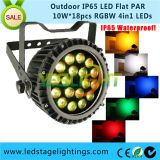 Super Bright LED Flat PAR Light RGBW 4in1 Epistar LEDs with Ce, RoHS