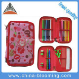 Student Polyester Stationery Bag 2 Deck Pen Pencil Box Case