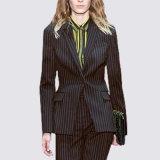 New Design Ladies Fashion Business Strip Formal Coat Pant Suit