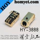 3.5mm AV Jack/Phone Jack with Glod Color Casing (Hy-3888)