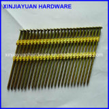 Flat Head Plastic Coated Strip Nail with 25PC /Strip