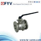 ISO9100 2 Pieces Stainless Steel Floating Ball Valve