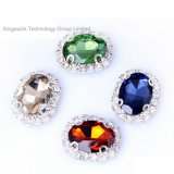 Ellipse Rhinestone Beads Sew on 6*8mm