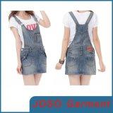 Girls Cute Braces Denim Skirts (JC2036)