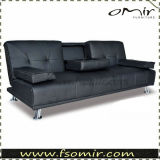 PU Leather Sofa Bed with Cup Holder (SS7098)